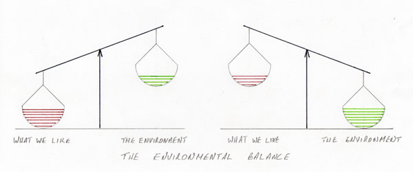drawing of the environmental balance
