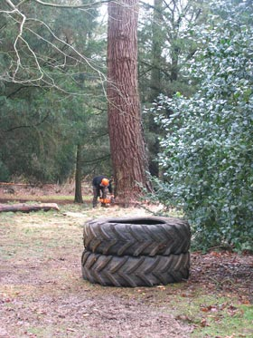 tyres in place ready for the drop